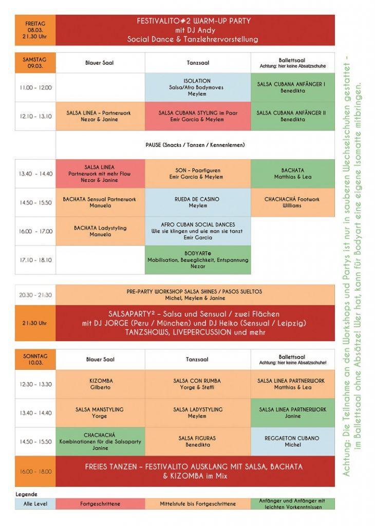 Workshops in Salsa und mehr beim Salsafestival Leipzig März 2019