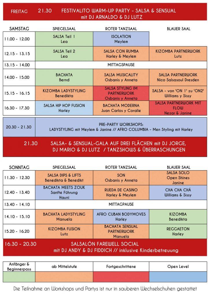 salsa-tanzprogramm beim festivalito