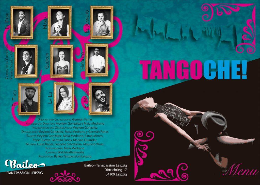 Tangoche-Tänzer-Programm-Menü