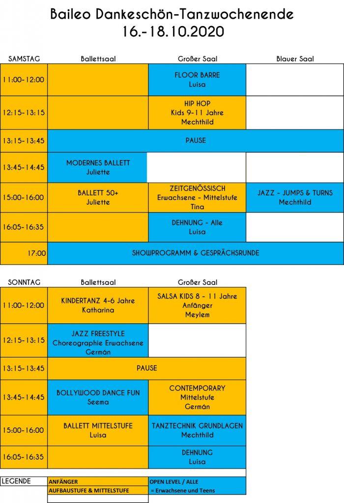 Tanzkurs Programm